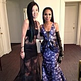 Vera Wang and Kerry Washington went the glam-punk route for the big event. Source: Instagram user verawanggang