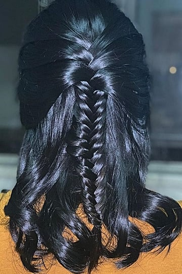 Half-Up Braided Hairstyles