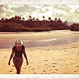 Beyoncé took some time out of her busy tour schedule to hit the beach in Brazil. Source: Instagram user beyonce