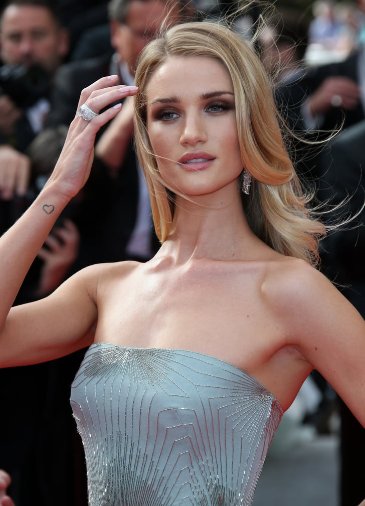 Rosie Huntington Whiteley 37 British Celebrity Tattoo