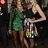 Izabel Goulart and Jessica Hart posed for photos at the Victoria's Secret Fashion Show after party in NYC.