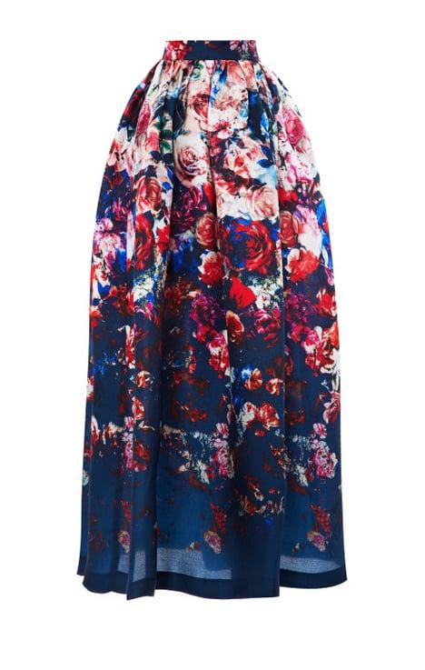 MSGM Floral-Print Gazar Midi Skirt ($865)