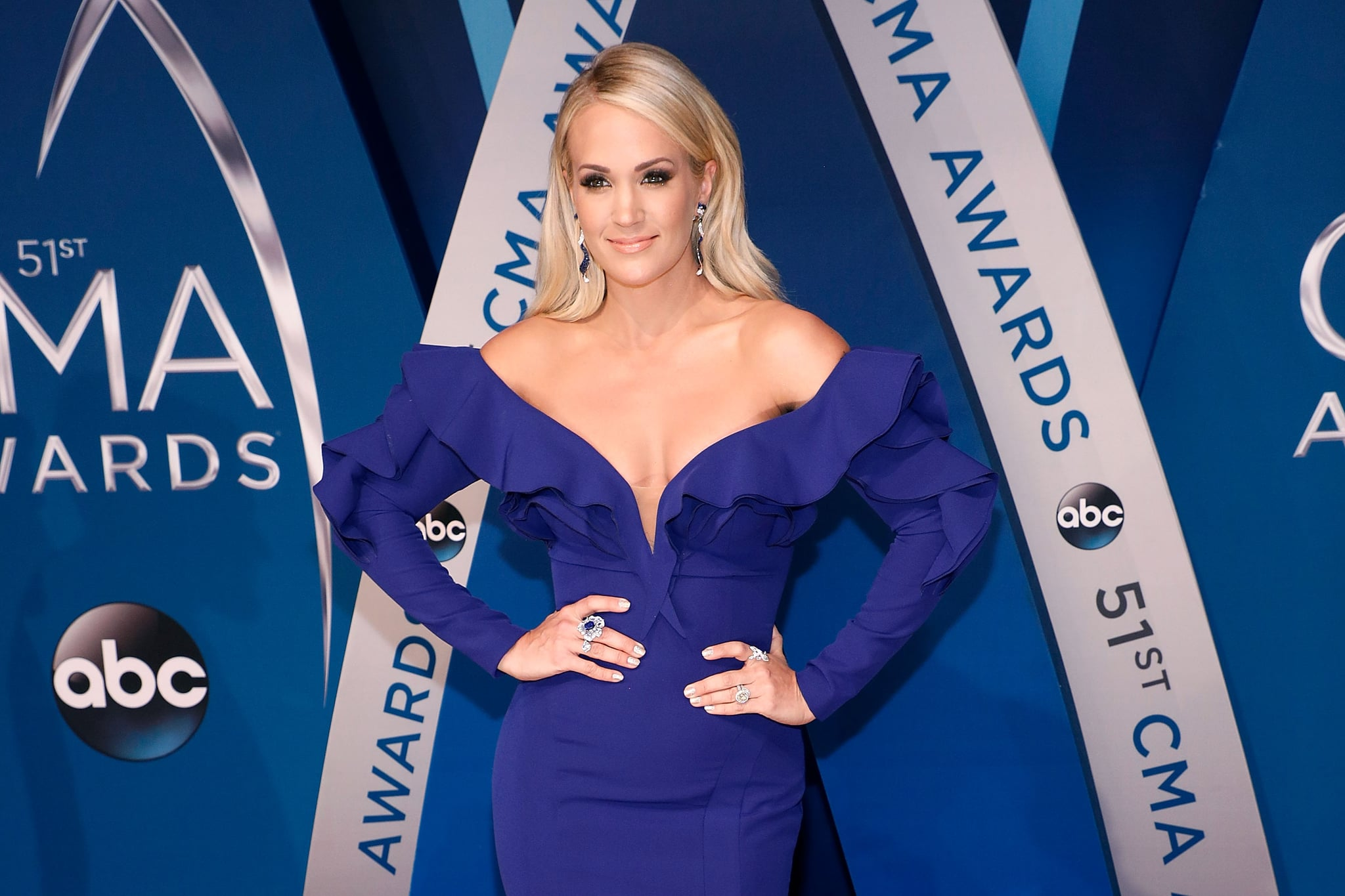 NASHVILLE, TN - NOVEMBER 08:  Carrie Underwood attends the 51st annual CMA Awards at the Bridgestone Arena on November 8, 2017 in Nashville, Tennessee.  (Photo by Taylor Hill/FilmMagic)