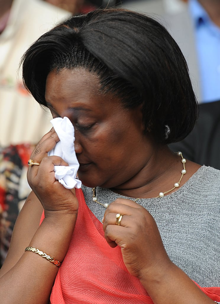 A woman cried at a remembrance ceremony in the city of Kigali on April 5.