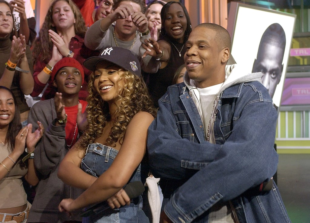 Jay-Z and Beyoncé teamed up in NYC for an appearance on MTV's TRL in November 2002.