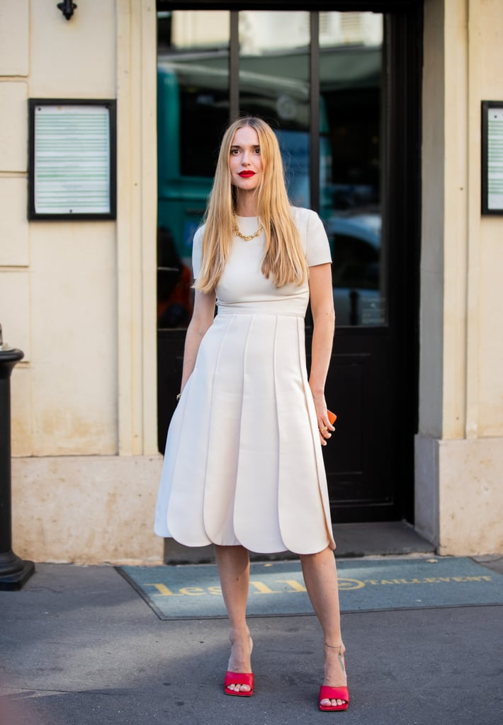 Wear a White Dress With Red Heels