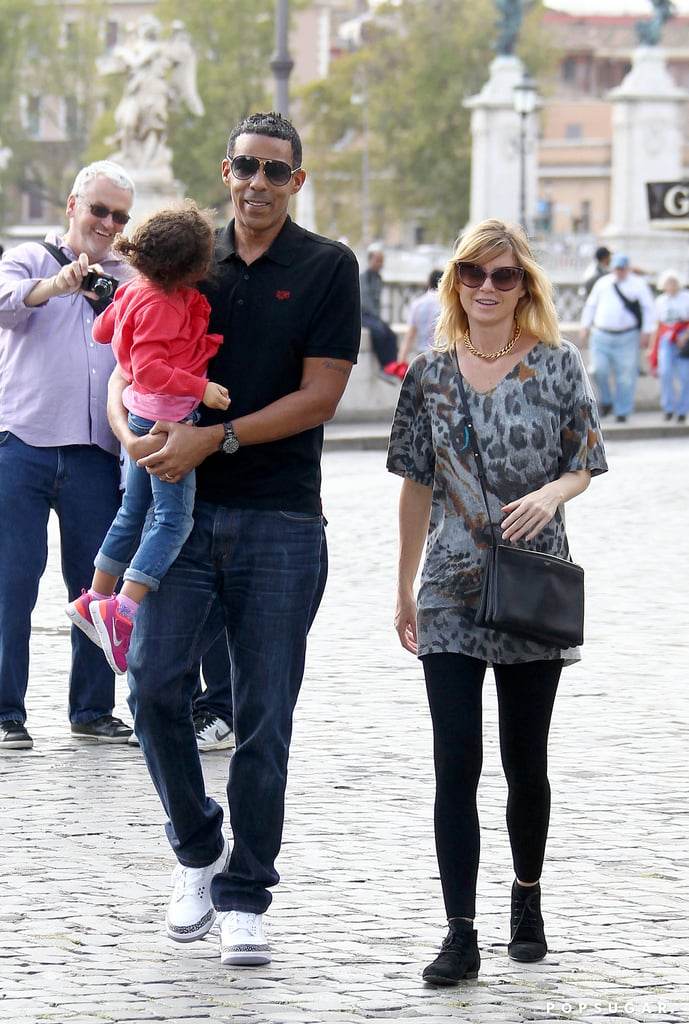 Ellen Pompeo and her husband, Chris Ivery, vacationed in Rome with their daughter, Stella, — Alicia Keys was also nearby with her family!