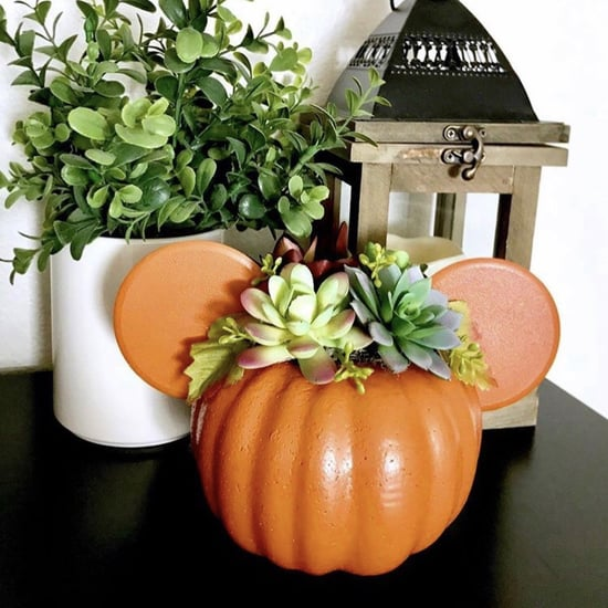 Mickey Mouse Pumpkin Succulent Planter DIY
