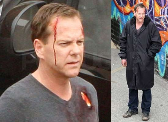 Photos of Kiefer Sutherland Filming 24