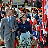 Queen Letizia and King Felipe VI were greeted in St. Augustine, FL in September.