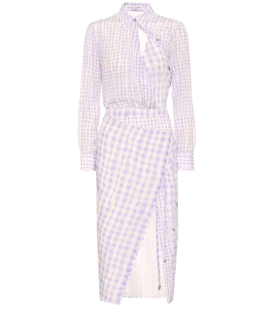 Altuzzara Constantina Checked Silk Dress
