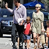 Michelle Williams and Matilda followed behind Jason Segel in LA.