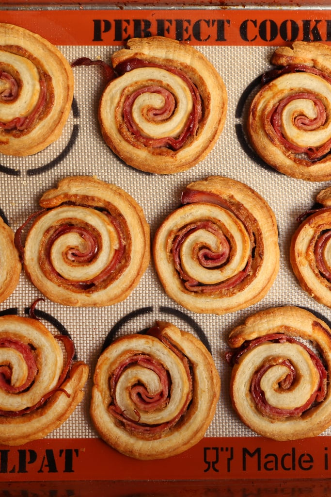 Ham and Cheese Puff Pastry Pinwheels
