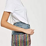 Topshop Future Beaded Crossbody Bag