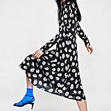 Zara Printed Jacquard Dress