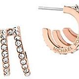 Michael Kors Modern Brilliance Cubic Zirconia Rose Goldtone Hoop Earrings ($75)