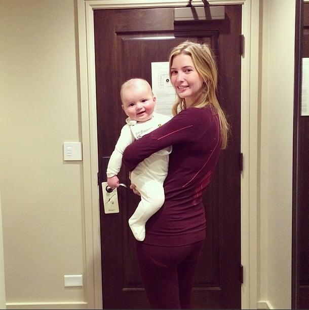 Ivanka Trump carried her growing son, Joseph. Source: Instagram user ivankatrump