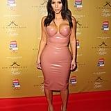 Kim Kardashian Wearing the Latex Dress in Australia in 2014