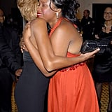 In 2006, Whitney gets a big hug from Jennifer Hudson, who will perform a tribute to Whitney tonight.
