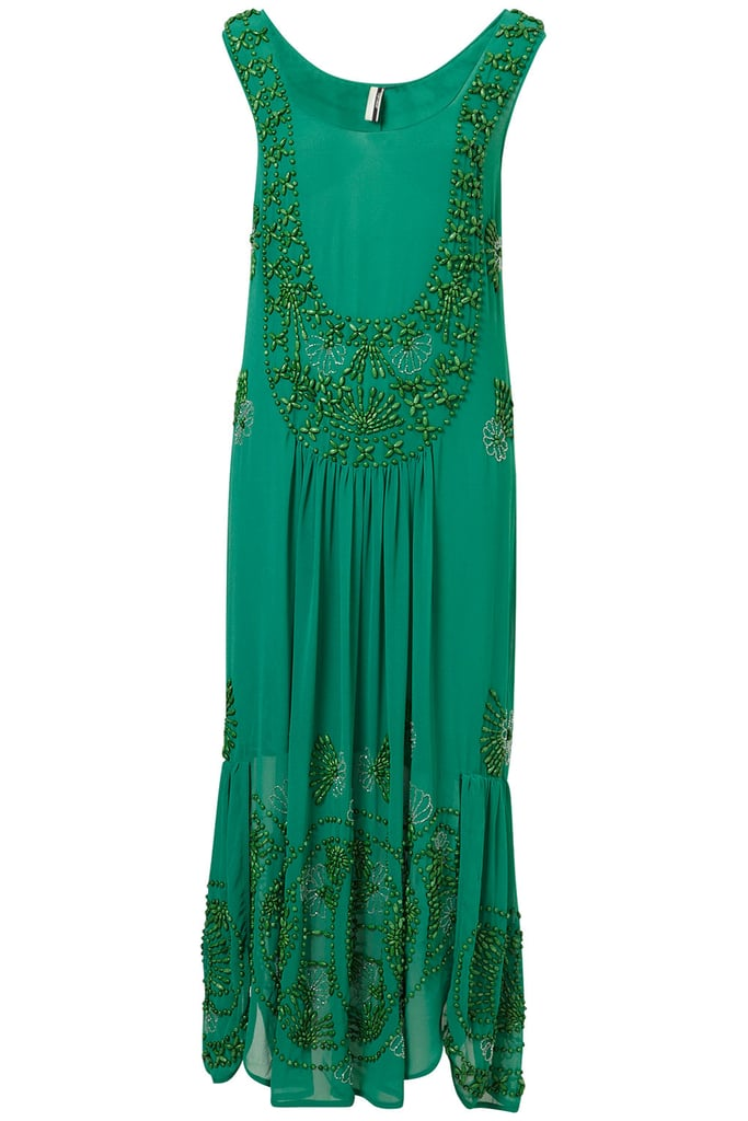 Blame it on Downton Abbey, but the resurgence of '20s silhouettes is more than welcome these days. Enter this limited-edition Topshop flapper maxi dress ($350), which definitely hits all the right retro notes.