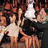 Kim Kardashian was joined by family, friends and fans for her bachelorette party at Tao Las Vegas in July 2011.
