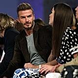 David and Brooklyn Beckham at Victoria's Fashion Show 2016