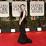 Rooney Mara wore Nina Ricci on the red carpet at the 2012 Golden Globe Awards.