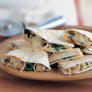 Fast & Easy Recipe for Chicken and Spinach Quesadillas