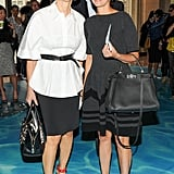 Linda Fargo joined Cindi Leive in the front row of Tory Burch's show.