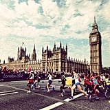 London was in the athletic spirit with plenty of runners. Source: Instagram user USA Today