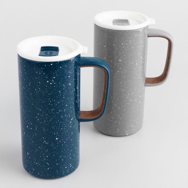 Ello Campy Insulated Stainless Steel Travel Mugs Set of Two