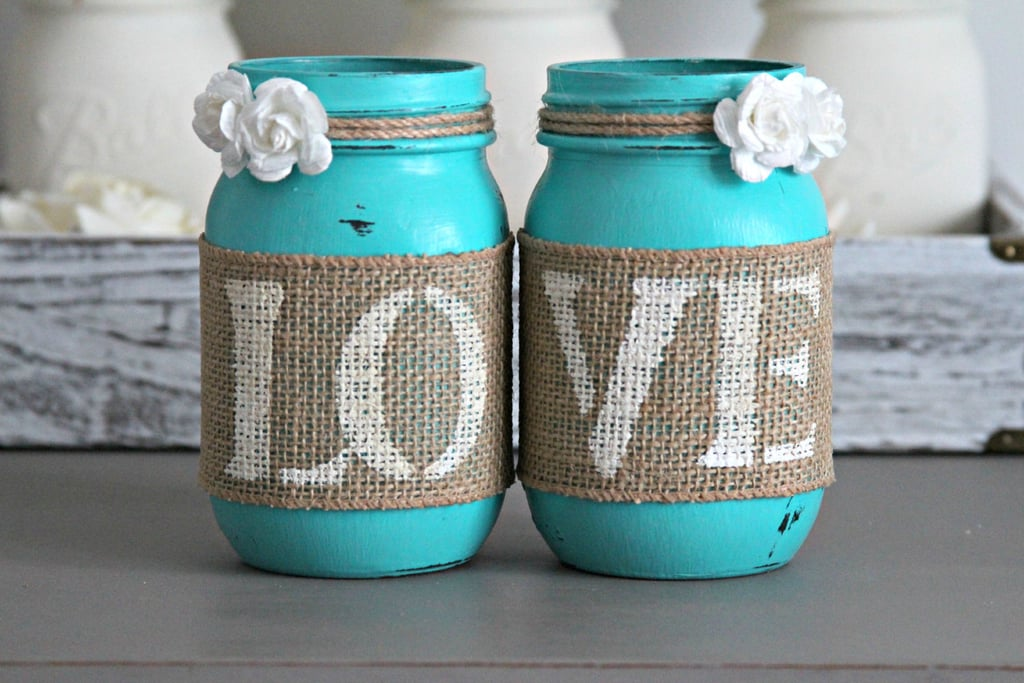 Turquoise Mason Jar Decorations Cheap Bridal Shower Products