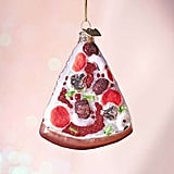 Glitter Pizza Christmas Ornament