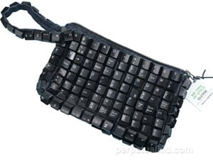 Recycled Keyboard Clutch: Totally Geeky or Geek Chic?