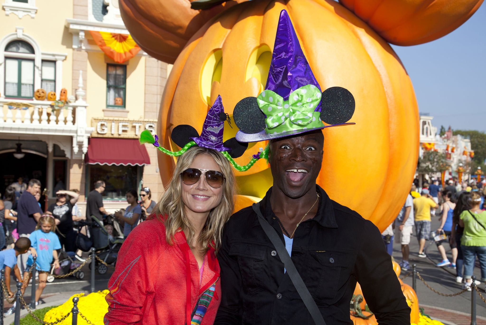 """Heidi Klum and Seal took a Halloween trip to the """"Happiest Place on Earth"""" in October 2011."""