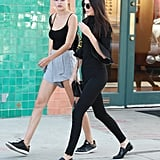 Kendall Jenner accessorized with Ahlem wire-rim aviators.