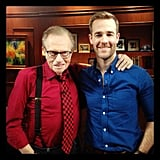James Van Der Beek hung out with Larry King. Source: Twitter user vanderjames