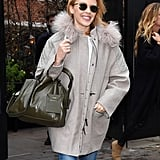 Kylie Minogue was all smiles in London on Friday.