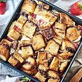 Strawberry Nutella Cream Cheese French Toast Casserole