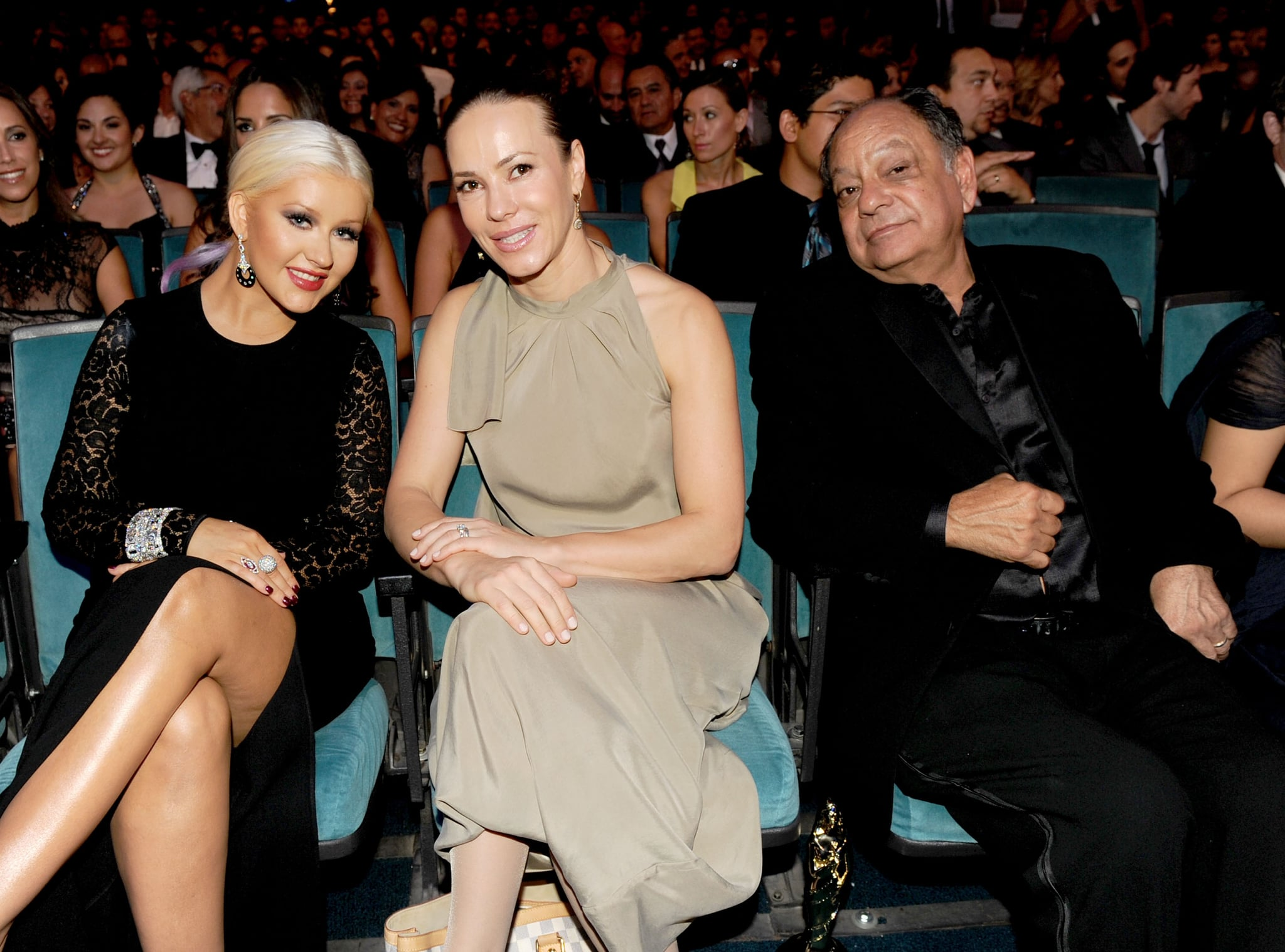 Christina Aguilera was seated next to Natasha Marin and Cheech Marin for the ALMA Awards in LA.