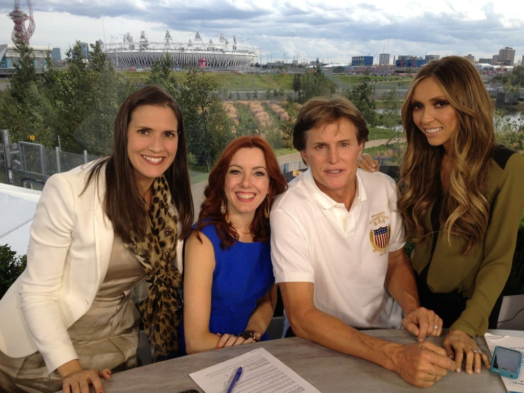 Giuliana Rancic chatted with Bruce Jenner. Source: Twitter user GiulianaRancic