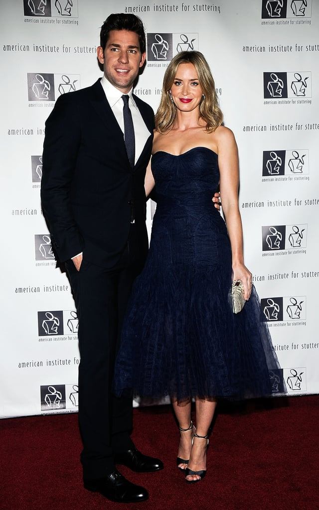 "John and Emily on the red carpet at the ""Freeing Voices, Changing Lives"" benefit gala in NYC in June 2013."