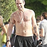 Colin Farrell got sweaty over the Summer in LA.