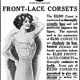 Fashionable women wore front-lace corsets in 1912.