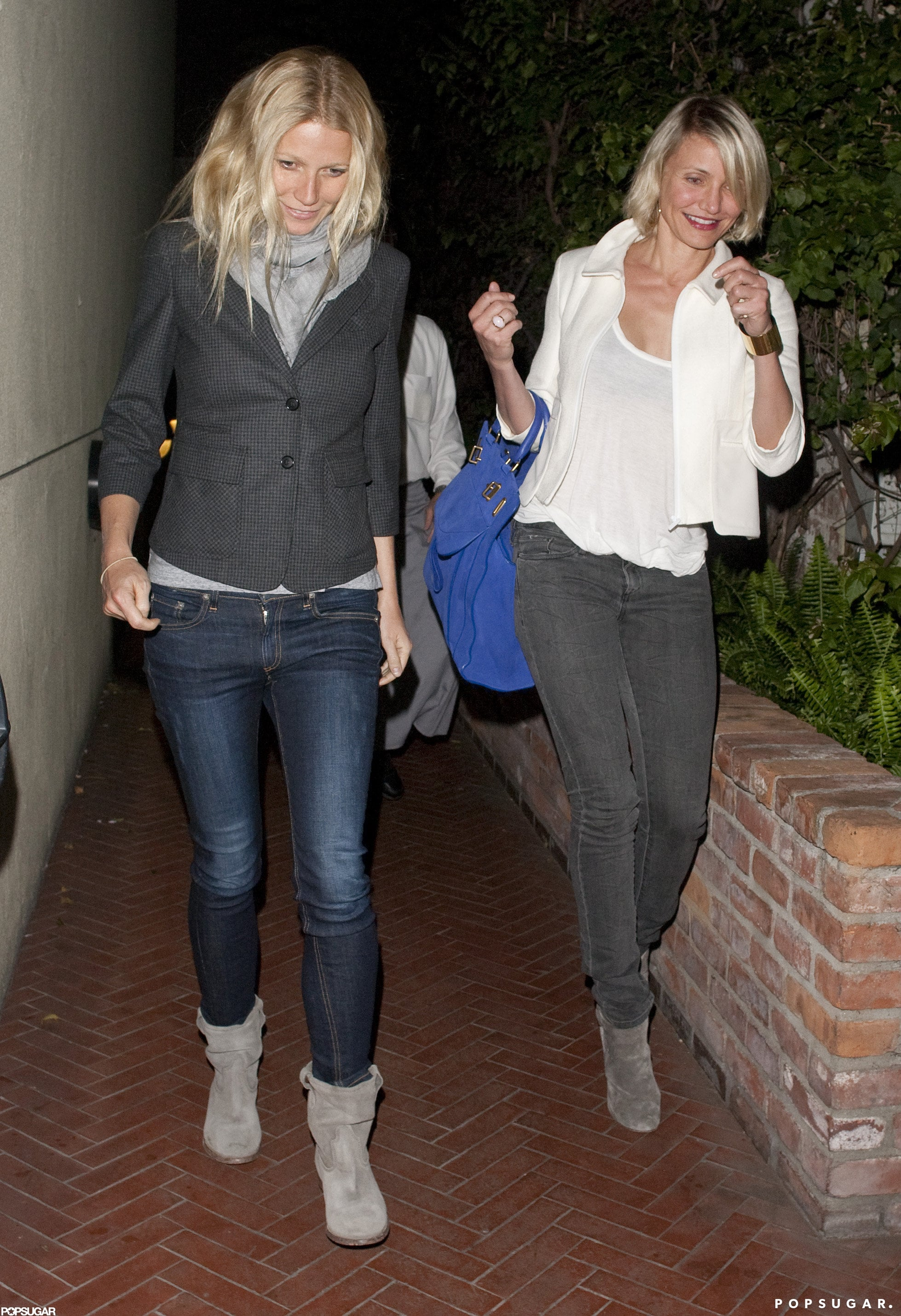 Cameron Diaz and Gwyneth Paltrow after dinner in LA.