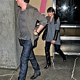 Lea Michele and Corey Monteith arrived at LAX together.