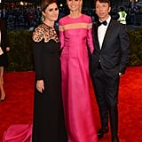 Maria Grazia Chiuri and Pierpaolo Piccioli smiled for a photo with a Valentino-clad Gwyneth Paltrow at the 2013 Met Gala.