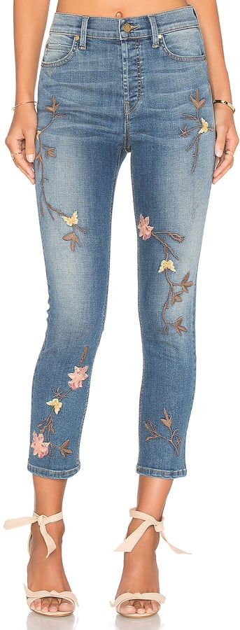 Level 99 'Riley' High Rise Embroidered Straight Leg Jeans ($154)