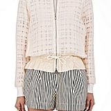 3.1 Phillip Lim Women's Gauzy Tweed Bomber Jacket-White ($795)