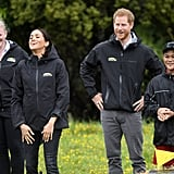 Prince Harry and Meghan Markle Toss Rainboots in New Zealand